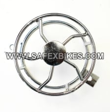 Buy HEAD LIGHT JALI / GRILL CHROME PLATED FOR ROYAL ENFIELD BULLET D2 ZADON on  % discount