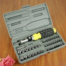 Buy Tool Kit Set of 41 with Screwdriver,Sockets And Bits on  % discount