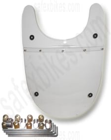 Buy FRONT MUDGUARD TIGER SILVER ROYAL ENFIELD BULLET ZADON on 12.00 % discount