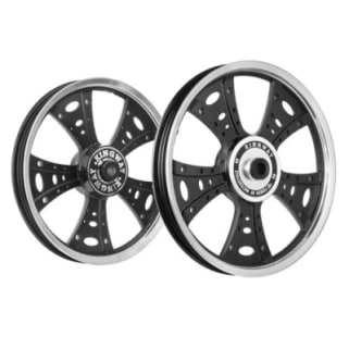 Click to Zoom Image of ALLOY WHEEL SET FOR RE STANDARD FATBOY HARLEY CNC RIM BLACK SPOKES KINGWAY