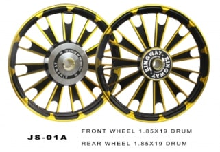 Click to Zoom Image of ALLOY WHEEL BLACK GOLDEN ROYAL ENFIELD KINGWAY