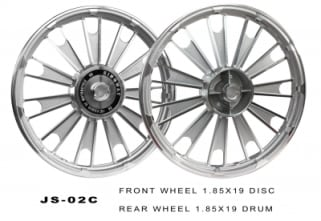Click to Zoom Image of ALLOY WHEEL SILVER ROYAL ENFIELD KINGWAY