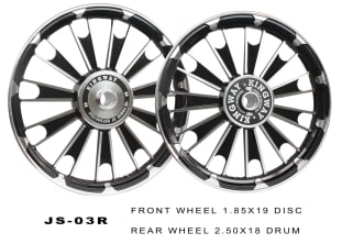 Click to Zoom Image of ALLOY WHEEL BLACK D4 ROYAL ENFIELD KINGWAY