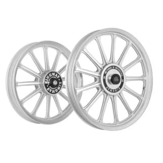 Click to Zoom Image of ALLOY WHEEL SET FOR RE ELECTRA KWSR2F SILVER 13SPOKES CNC KINGWAY