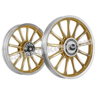 Click to Zoom Image of ALLOY WHEEL SET FOR RE CLASSIC GOLD 13SPOKES HARLEY KINGWAY