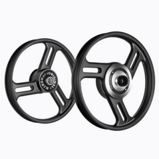 Click to Zoom Image of ALLOY WHEEL SET FOR RE STANDARD COMPLETE BLACK 3SPOKES STRAIGHT KINGWAY