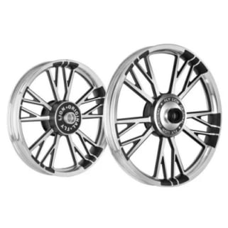 Click to Zoom Image of ALLOY WHEEL SET FOR RE CLASSIC Y DESIGN BLACK WITH CNC KINGWAY
