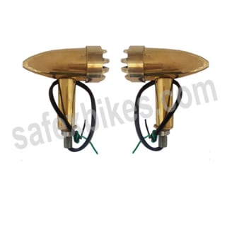 Click to Zoom Image of BRASS INDICATOR ASSY SMALL WITH LED SET OF 4 FOR ROYAL ENFIELD BULLET ZADON
