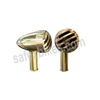 Click to Zoom Image of BRASS INDICATOR ASSY BIG WITH LED SET OF 4  FOR ROYAL ENFIELD BULLET ZADON