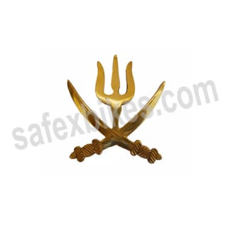Click to Zoom Image of BRASS TALWAR WITH TRISHUL FOR ROYAL ENFIELD ZADON