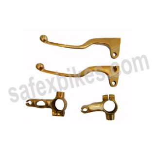 Click to Zoom Image of BRASS LEVER SET WITH YOKE D1 FOR ROYAL ENFIELD BULLET WITHOUT DISC  ZADON