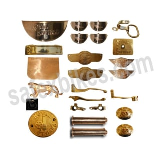 Click to Zoom Image of BRASS COMPLETE ACCESSORIES KIT FOR BULLET ROYAL ENFIELD SET OF 24 ZADON