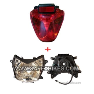 Click to Zoom Image of HEAD LIGHT ASSY WITH TAIL LIGHT ASSY KARIZMA ZADON