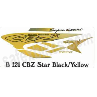 Click to Zoom Image of COMPLETE STICKER KIT CBZ STAR ZADON
