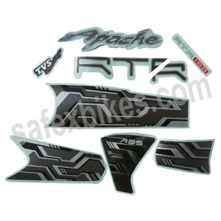 complete sticker kit apache rtr 180 abs zadon motorcycle parts for