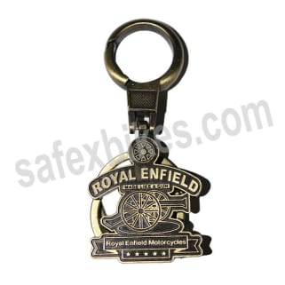Click to Zoom Image of EXCLUSIVE METAL KEY CHAIN ROYAL ENFIELD MADE  A GUN(COPPER FINISH) ZADON
