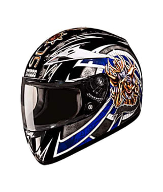 Click to Zoom Image of HELMET SCORPION FULL FACE D1 DECOR D1 BLACK N1 STUDDS