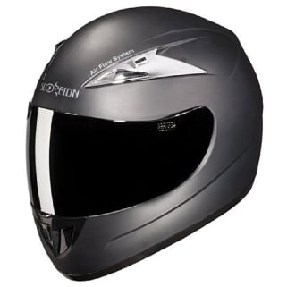 Click to Zoom Image of HELMET SCORPION WITH MIRROR VISOR FULL FACE STUDDS