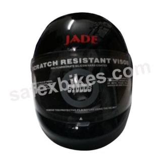 Click to Zoom Image of HELMET JADE BLACK FULL FACE STUDDS