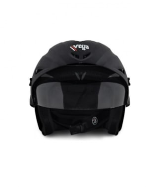 Click to Zoom Image of Vega Helmet - Cruiser With Peak FULL FACE (Black)