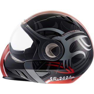 Click to Zoom Image of STEELBIRD-MODULAR FULL FACE HELMET SB-2020 GRAPHIC 6M FREEZE (BLACK & RED) (60 CM)