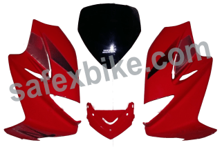 Click to Zoom Image of FRONT FAIRING (VISOR) KARIZMA R SET OF 4 UB WITH OET GLASS ZADON