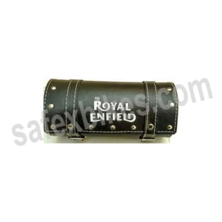 Click to Zoom Image of TOOL BAG LEATHER SMALL BLACK FOR ROYAL ENFIELD BULLET ZADON