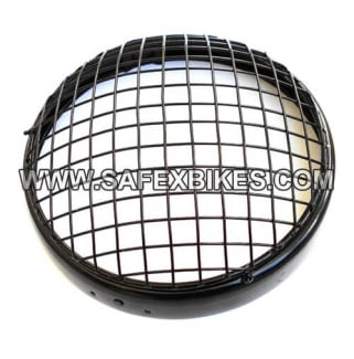 Click to Zoom Image of HEAD LIGHT JALLI WITH RIM BLACK FOR ROYAL ENFIELD ZADON