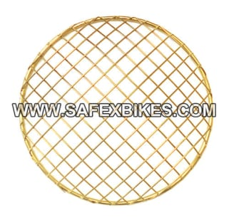 Click to Zoom Image of HEAD LIGHT JAALI / GRILL GOLDEN NET TYPE FOR ROYAL ENFIELD BULLET ZADON