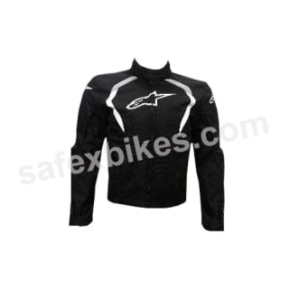 Click to Zoom Image of ALPINESTARS ALUX WATERPROOF JACKET (BLACK,WHITE) UNIVERSAL