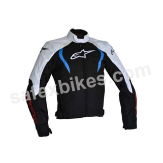 Click to Zoom Image of ALPINESTARS ALUX WATERPROOF JACKET( BLACK,WHITE,BLUE) UNIVERSAL
