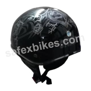 Click to Zoom Image of HELMET STUDDS TROY BLACK FULL FACE FOR LADIES