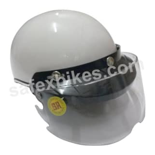 Click to Zoom Image of HELMET STUDD TROY GLOSSY WHITE FULL FACE FOR LADIES