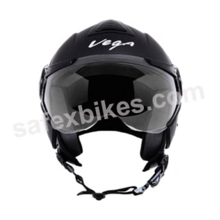 Click to Zoom Image of Vega - Verve Ladies open face Helmet (Dull Black)