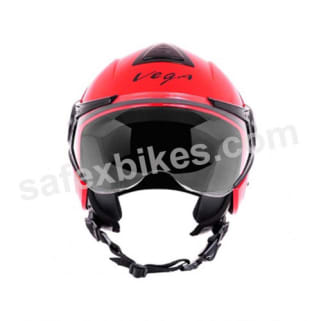 Click to Zoom Image of Vega - Verve Ladies open face Helmet (Red)