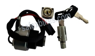 Click to Zoom Image of LOCK KIT RX100 SET OF 3 (with fuel tank lid lock) MINDA