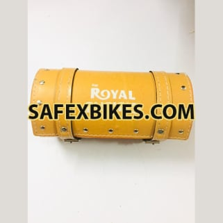 Click to Zoom Image of TOOL BAG LEATHER SMALL LIGHT BROWN FOR ROYAL ENFIELD BULLET ZADON