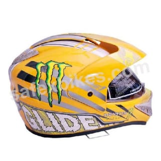 457c7618 Click to Zoom Image of GLIDERS FULL FACE MOTOCROSS HELMET WITH VISOR MC1  YELLOW