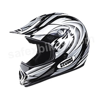 Click to Zoom Image of HELMET MOTOCROSS FULL FACE DEVIL DECOR STUDDS