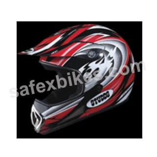 Click to Zoom Image of HELMET MOTOCROSS FULL FACE SMILE DECOR STUDDS
