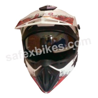 Click to Zoom Image of VEGA MOTOCROSS HELMET OFFROAD MONSTER DOUBLE VISOR