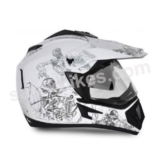 Click to Zoom Image of VEGA MOTOCROSS HELMET OFFROAD SILVER