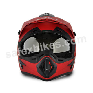 Click to Zoom Image of Vega motocross full face Helmet - Off Road (Dull Red)