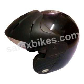 Click to Zoom Image of Formulate - Open Face Helmet - Royal (Solid Black) [Size : 580 mm]