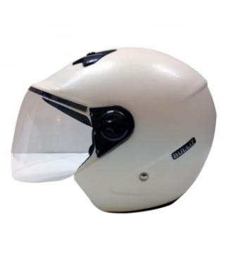 Click to Zoom Image of Saviour Bullit Unisex Open Face helmet - White