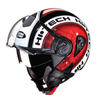 Click to Zoom Image of HELMET DOWNTOWN OPEN FACE D2 DECOR STUDDS