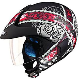 Click to Zoom Image of HELMET MARSHALL OPEN FACE D4 DECOR STUDDS