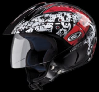 Click to Zoom Image of HELMET MARSHALL OPEN FACE D3 DECOR STUDDS