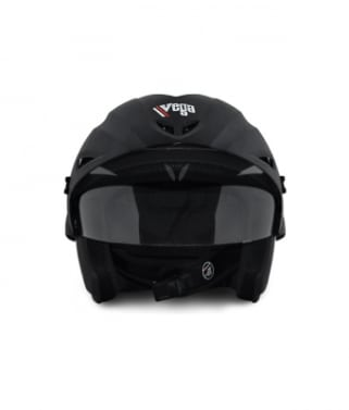 Click to Zoom Image of Vega open face Helmet - Cruiser With Peak (Dull Black)