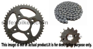 Click to Zoom Image of CHAIN AND SPROCKET KIT PULSAR150 CC IFB